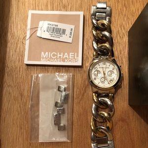Michael Kors Runway Twist Silver & Gold Watch